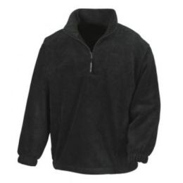 1/4 Zip Fleece Top Black XL