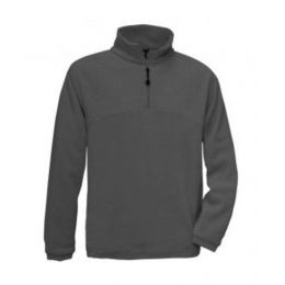 1/4 Zip Fleece Top Charcoal 2XL