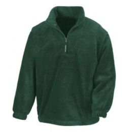 1/4 Zip Fleece Top Forest Green L
