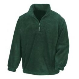 1/4 Zip Fleece Top Forest Green XL