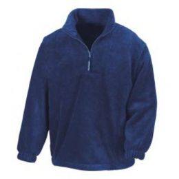 1/4 Zip Fleece Top Navy 2XL