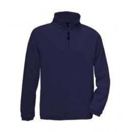1/4 Zip Fleece Top Navy 3XL