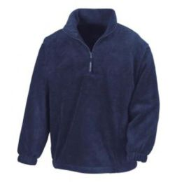 1/4 Zip Fleece Top Navy L