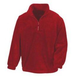 1/4 Zip Fleece Top Red S