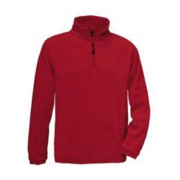 1/4 Zip Fleece Top Red XS