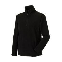 1/4 Zip Outdoor Fleece Black 2XL