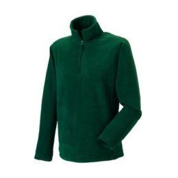 1/4 Zip Outdoor Fleece Bottle Green XL