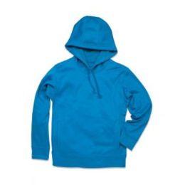 Active Bonded Fleece Hoody Men Artic Blue 2XL