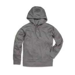 Active Bonded Fleece Hoody Men Frost Grey XL