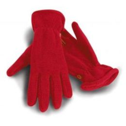 Active Fleece Handschuhe Red M