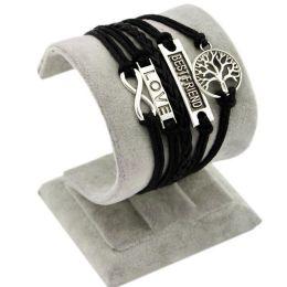 "Armband ""Beste Freunde/Liebe"" schwarz"