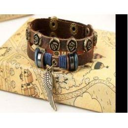"""Armband """"Flügel"""" Leder braun"""