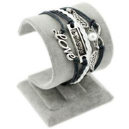 "Armband ""Glaube, Liebe, Hoffnung"" grau/weiss"