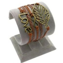 "Armband ""Liebe"" Leder braun"