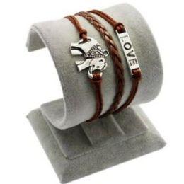 """Armband """"Liebe"""" mit Elefant, braun"""