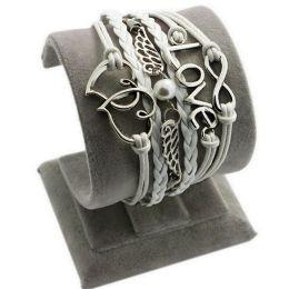 """Armband """"Liebe"""" mit Herzen, weiss"""