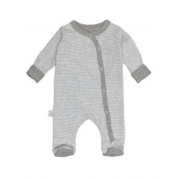Bodysuits, einzeln grau+gestreift 62/68