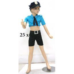 Fasching Karneval Polizistin mit Hut