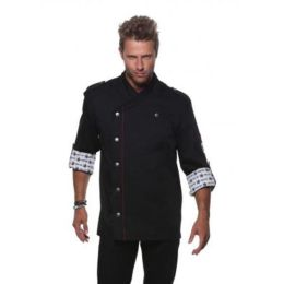 Fashionable Rock Chef`s Jacket Black 60 (2XL)