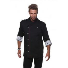 Fashionable Rock Chef`s Jacket Black 64 (3XL)