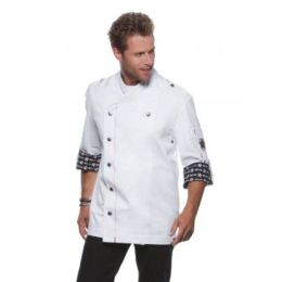 Fashionable Rock Chef`s Jacket White 62 (2XL)