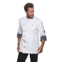 Fashionable Rock Chef`s Jacket White 64 (3XL)
