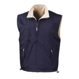 Fleece Wendebodywarmer Navy/Camel XS