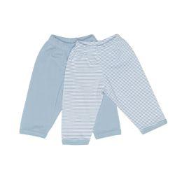 Gummizug-Hosen blau+gestreift 50/56, 2er Pack