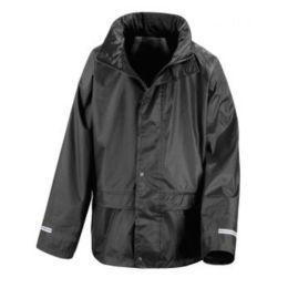 Junior StormDri Jacket Black L (9-10)