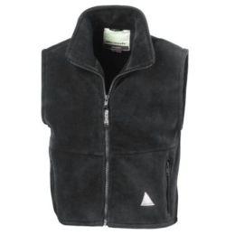 Kids` Fleece Bodywarmer Oxford Grey 4-6