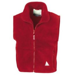 Kids` Fleece Bodywarmer Red 3-4