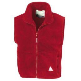 Kids` Fleece Bodywarmer Red 8-10