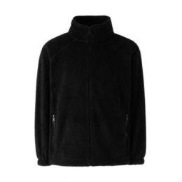 Kids` Fleece Jacke Black 128 (7-8)