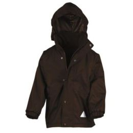 Kids` Fleece Wendejacke Brown/Brown XL