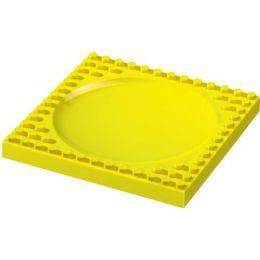 Kinder-Teller flach gelb kompatibel mit Baustein
