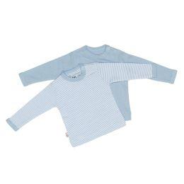 Pullover blau+gestreift 74/80, 2er Pack