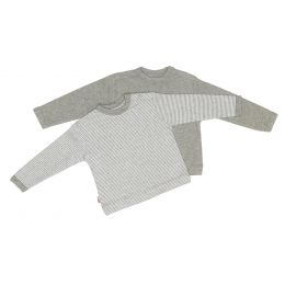 Pullover grau+gestreift 44/48, 2er Pack