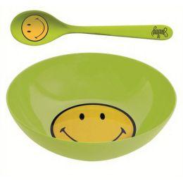 Smiley Frühstücksset grün Ø 17 cm