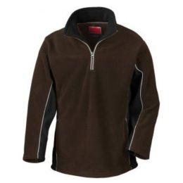 Tech3 Sport Fleece 1/4 Zip Sweater Coffee/Black M