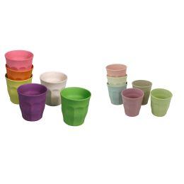 Becher Set Rainbow Dawn Tasse 6 Stück M Kinderbecher 100 % Bio nachhaltig 150 ml umweltfreundlich