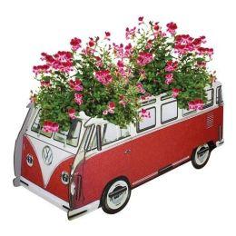 Blumenkasten VW T1 rot Pflanzkübel Blumenkübel Pflanzgefäß Blumentopf Kübel Pflanzentopf