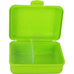 Brotbox grün mit 2 Trennstegen Brotzeitbox Brotzeitdose Brotdose Frühstücksdose Kinderbox