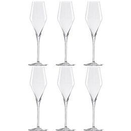 Champagnergläser Quatrophil 6-er Set Champagner-Gläser Weingläser Weinglas Weißwein-Gläser