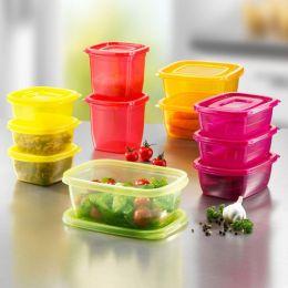 Click Fresh Rainbow Behälter Vorrat Boxen Frischhaltebox Dosen Set Gefrierdose Frischhalteboxen