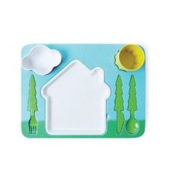Dinner Set Landscape Kindergeschirr Kinderset Geschirrset Kinder Besteck Kinderbesteck Set Ess-Set