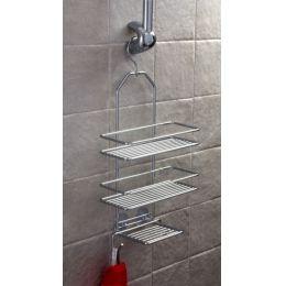 Duschregal mit 3 Böden zum Hängen Duschkorb Duschablage Metall Hängeregal ohne Bohren