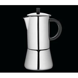 Espressokocher Figaro für 4 Tassen Espresso Mokka kochen Edelstahl Kaffee