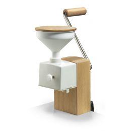Flockenquetsche Flocino Getreideflocker Glas Kornquetsche Flocker Holz Tischmodell Quetsche