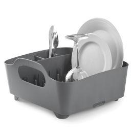 Geschirrkorb Tub Dish Rack, anthrazit/grau Abtropfgestell Abtropfbrett Spülkorb Geschirrständer