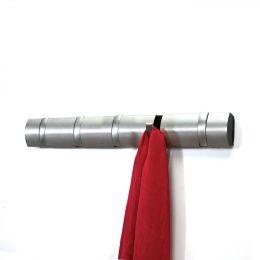 Hakenleiste Flip Wandhaken Kleiderhaken Wandgarderobe Aufhängung Nickel Gaderobenleiste 5 Haken